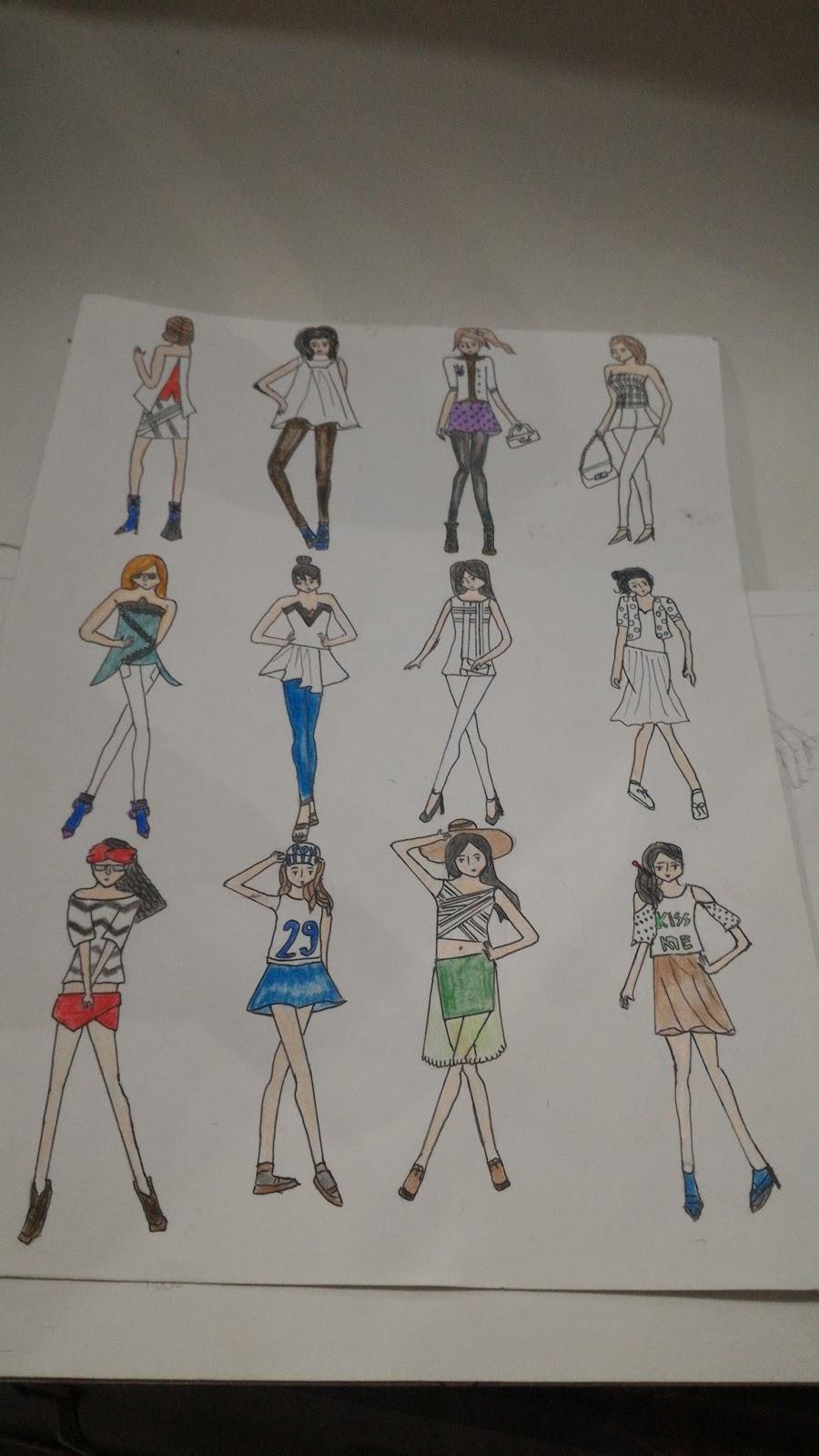 Belajar Gambar Sketsa Baju Sobsketsa