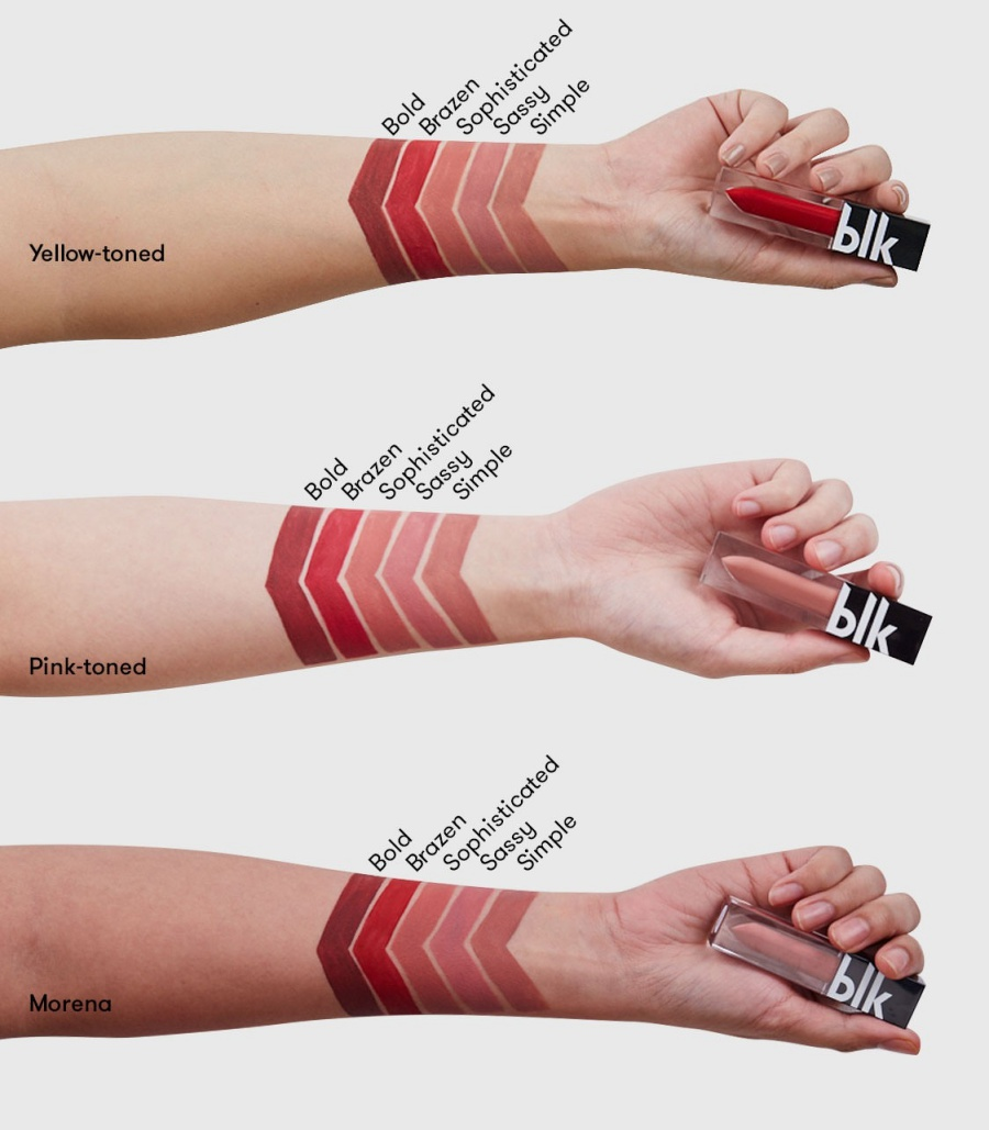 Blk Cosmetics by Anne Curtis Matte Liquid Lipstick Swatches
