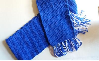 cachecol infantil azul