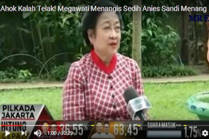 Megawati Menagis Sedih Ahok Kalah Telak