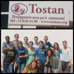 Tostan office in Dakar, Senegal. Bottom: Madeleine Balchan and other GCY Fellows