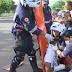 CAXIAS: Duas motos colidem frontalmente próximo a rotatória do Balneário Veneza