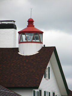 Closeup of West Dennis Lighthouse