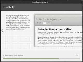 Linux Mint 19 Tara installation slide show find help
