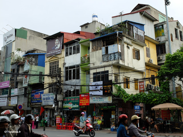 immeubles rue hanoi vietnam