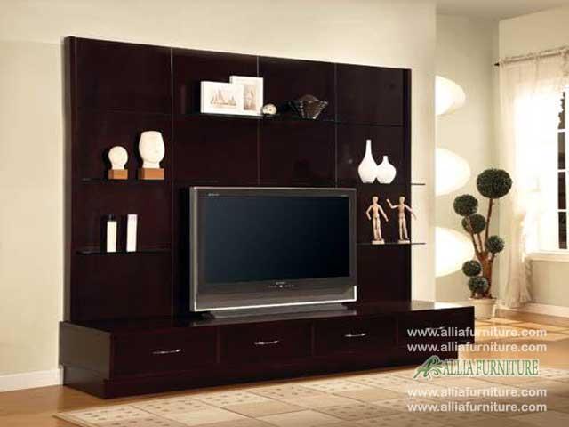 meja tv minimalis backdrop model west