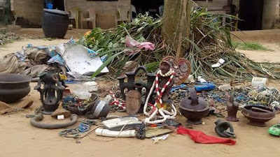 13 - Fake prophetess Bursted, See What Was Found In Her church in Akwa Ibom (See Photos)