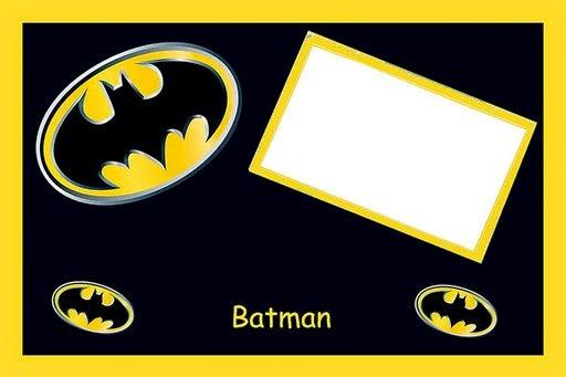 Para hacer invitaciones, tarjetas, marcos de fotos o etiquetas, para imprimir gratis de Intrépido Batman.