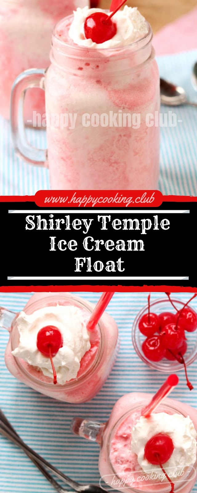 Shirley Temple Ice Cream Float