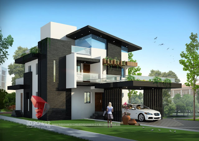 Architectural Bungalow Style Home Design | Architectural Modern Style Home Design  Bungalow Visualization