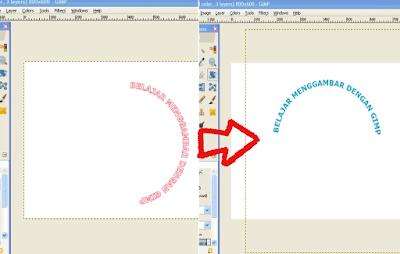 Membuat Teks / Tulisan Melengkung di GIMP7