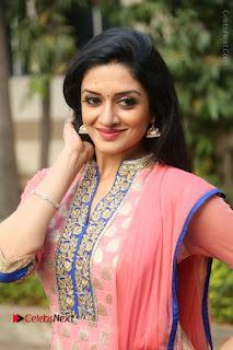 Actress Vimala Raman Stills in Beautiful Pink Salwar Kameez at (ONV) Om Namo Venkatesaya Press Meet  0159.JPG