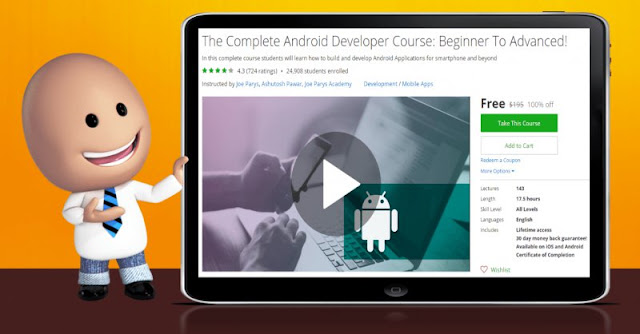 [100% Off] The Complete Android Developer Course: Beginner To Advanced!|Worth 195$