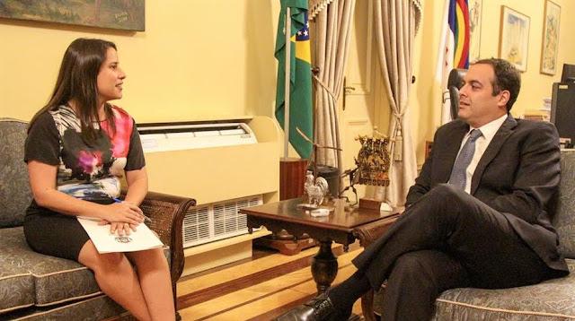 Após diplomação, Raquel Lyra tem primeira reunião com Paulo Câmara