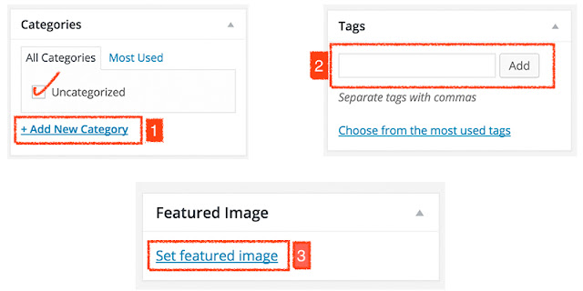 Select Post Category and Tags