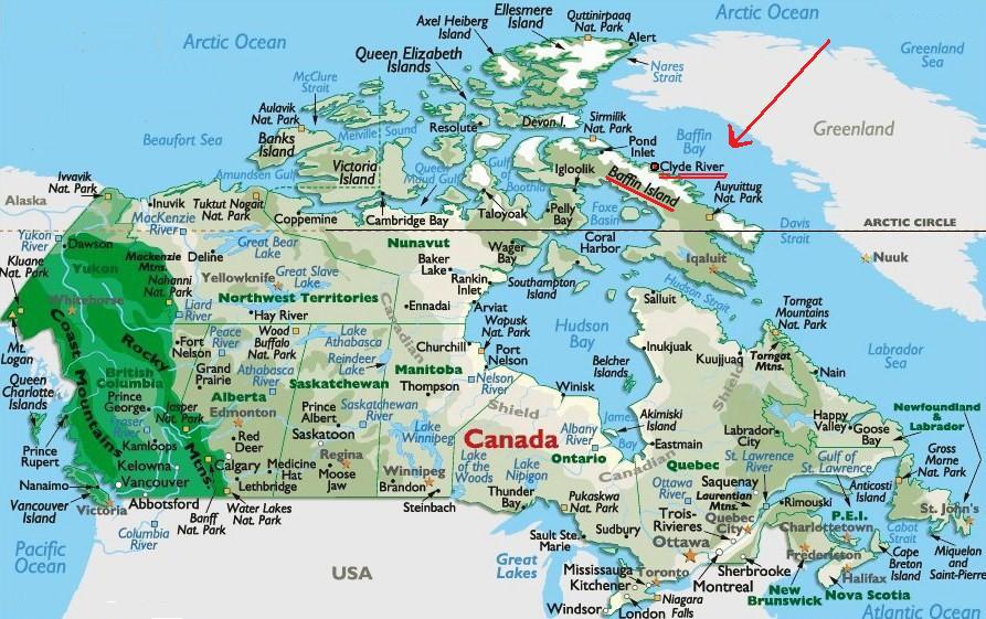 Baffin Island On Canada Map