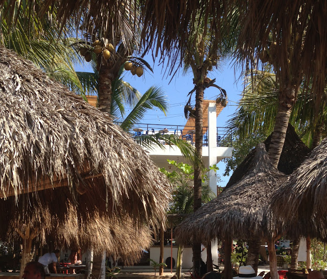 beach bar / roof bar in San Pancho Mexico