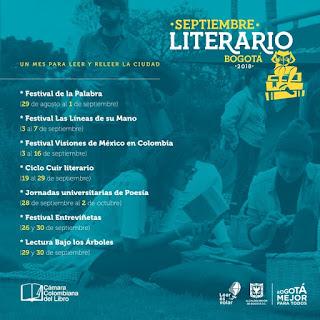 Programación SEPTIEMBRE LITERARIO Bogotá 2018