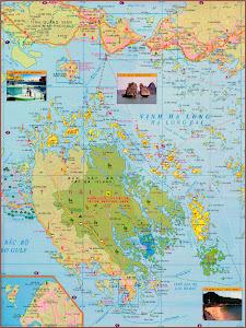 Map of Cat Ba Island