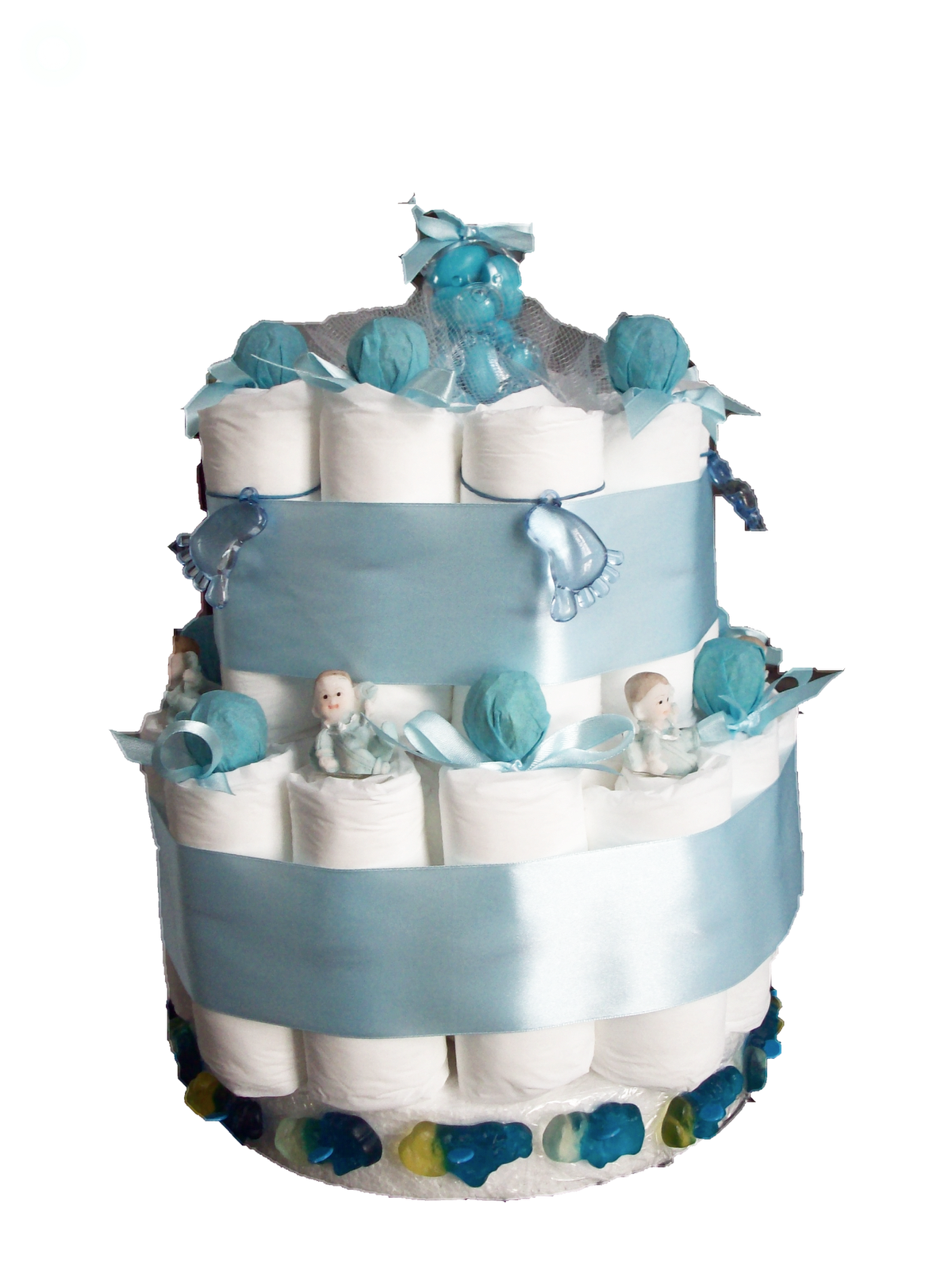 Cadeau Originale Baby Shower sweet loop: diaper cake / gâteau couche