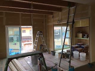 漆喰塗り壁 三重県自然素材の家 全館空調 みのや
