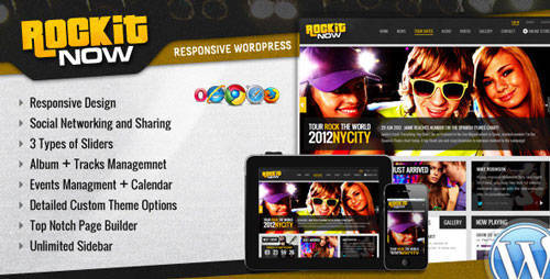 Rockit Now - Music Band Wordpress Theme - Bands and Music Entertainment