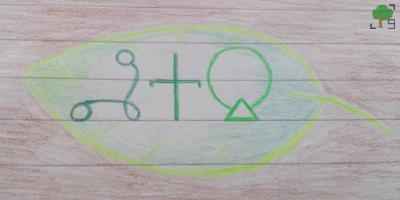 bukwy, azbuki, rysunek, napis, liść, zieleń, drzewa, Rhymer,