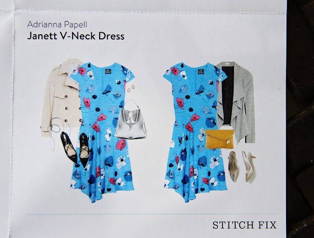 Stitch Fix Adrianna Papell Janett V-Neck Dress style card