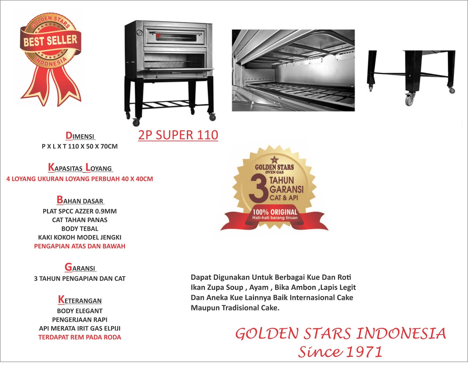 BEST SELLER OVEN GAS INDONESIA