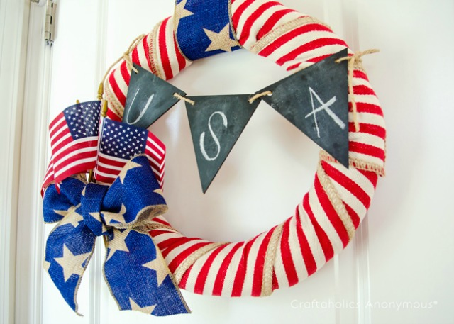 Patriotic USA wreath