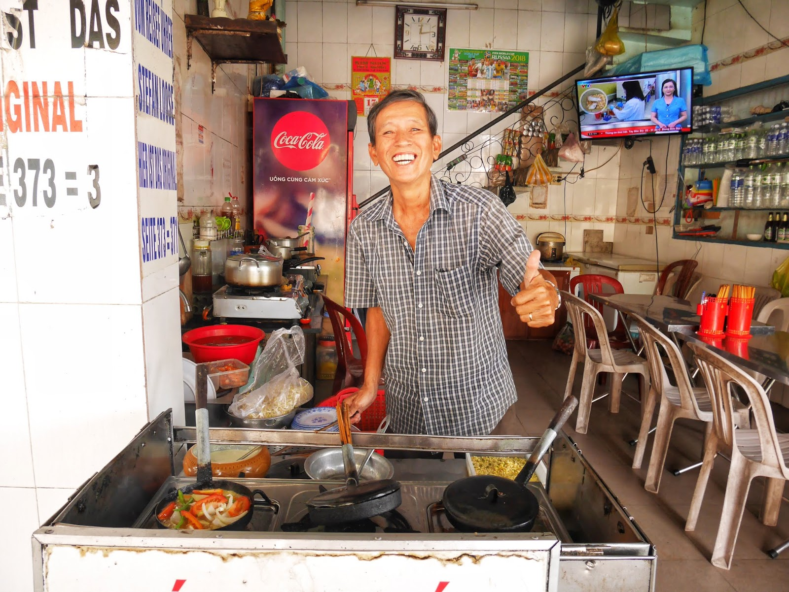 The most friendly restaurant owner at Lac Thanh, Hue