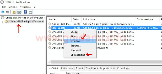 Utilità pianificazione Windows 10
