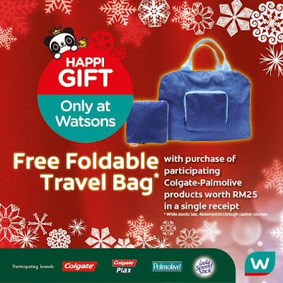Watsons Colgate Palmolive Products FREE Foldable Travel Bag