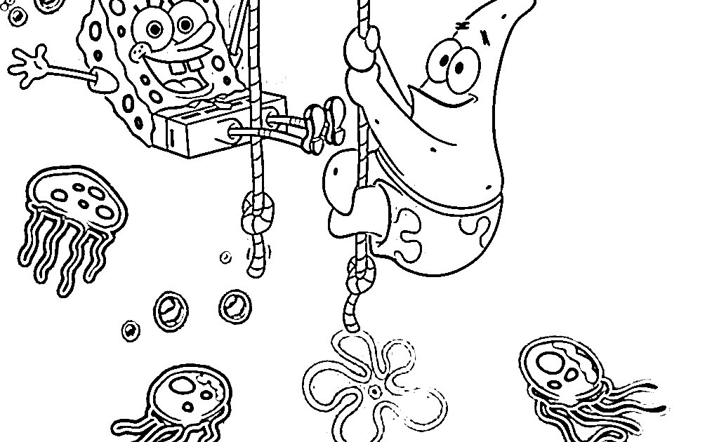 jellyfish spongebob coloring pages - photo#4