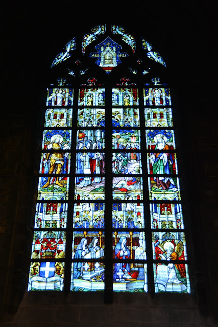 Cathedral Mons stained glass