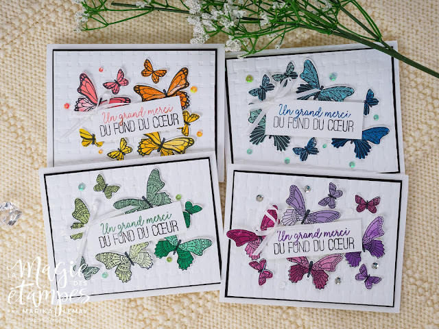 Ensemble de cartes avec Dale de papillons Stampin' Up!