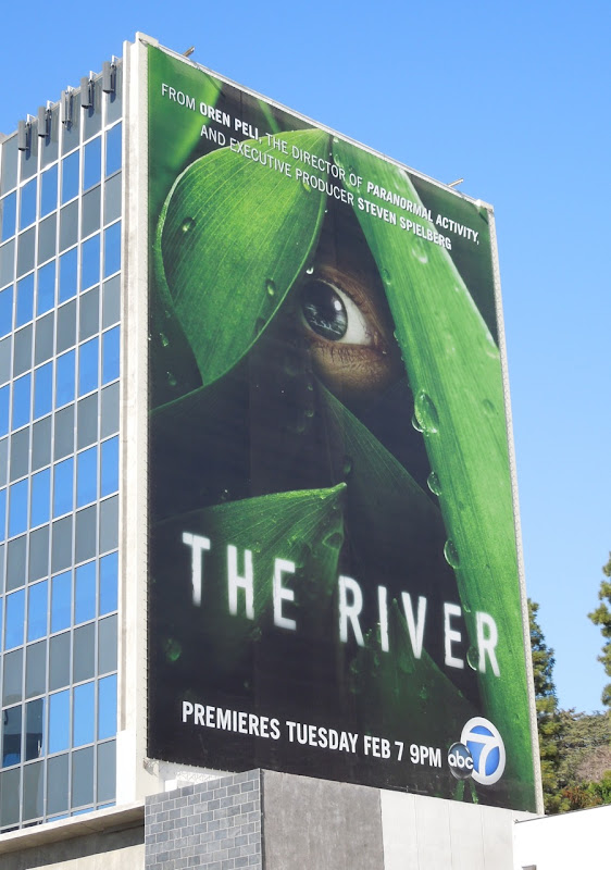 The River giant TV billboard