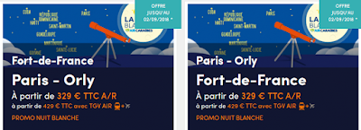 Nuit Blanche Air Caraibes