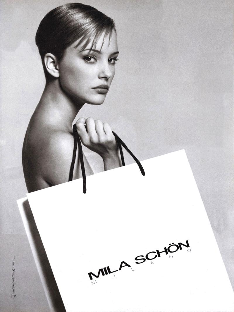 Jaime Rishar in Mila Schon 1993 campaign
