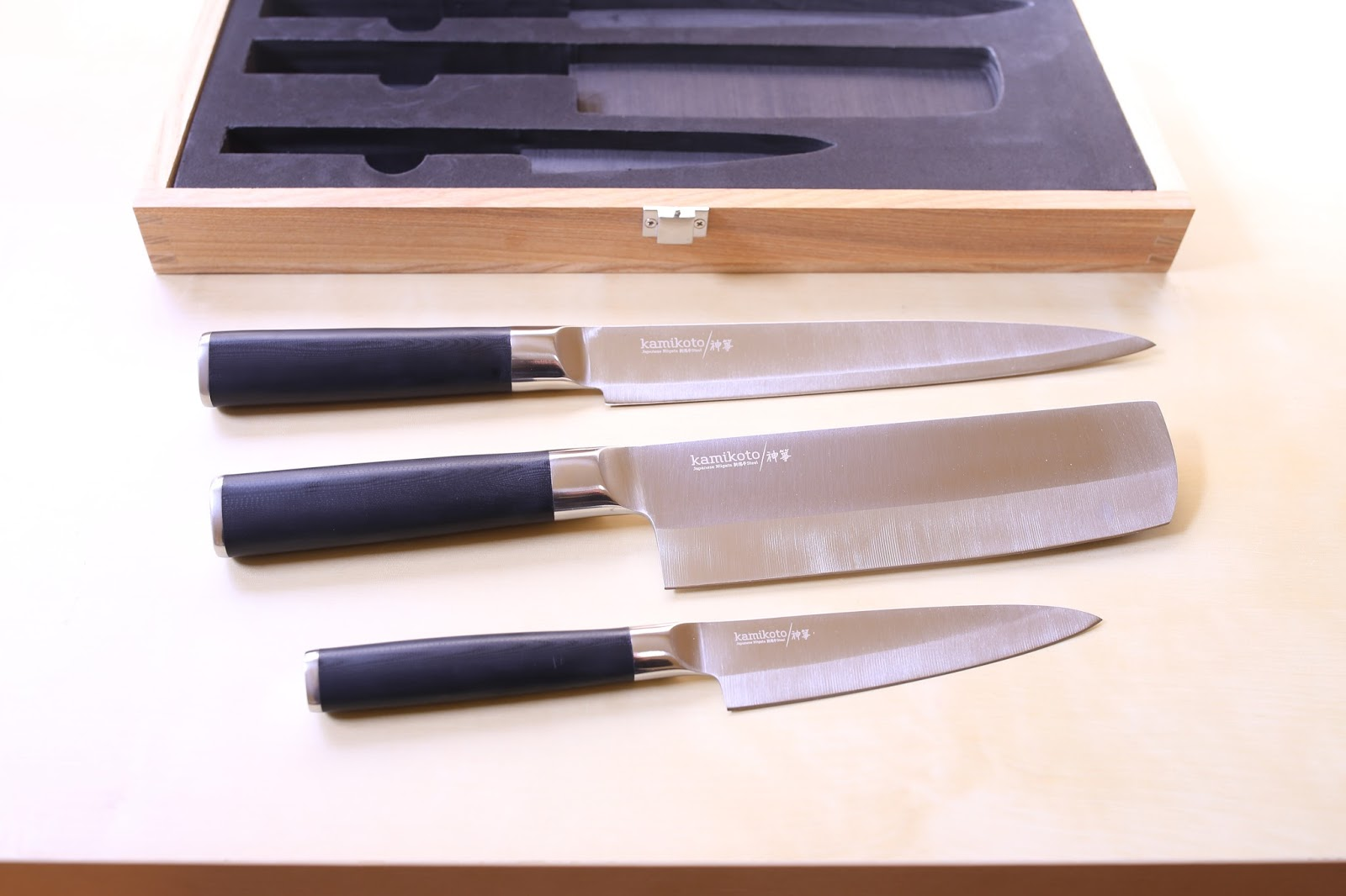japanese foodie kamikoto 神箏 kanpeki knife set review