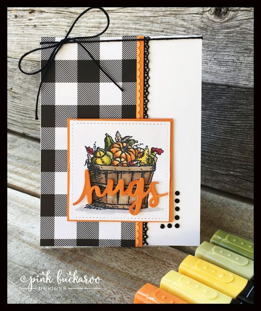Carte d'automne Stampin' Up! avec le jeu Basket of Wishes