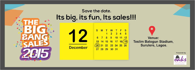 Its the First & Biggest Yardsale event in Nigeria. Oaks Tranzact presents the Big Bang Sales