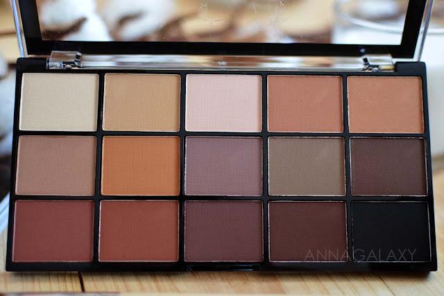 Цветовая гамма Палетка теней Makeup Revolution Re-Loaded Basic Mattes