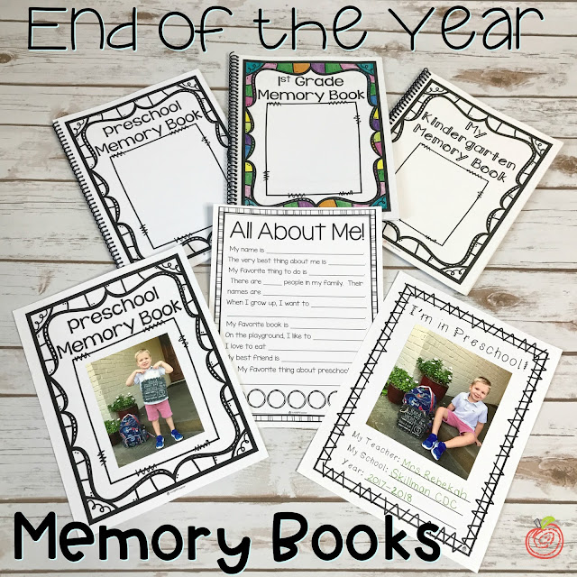 End of the Year Memory Books that are cute, simple, cheap, and easy to assemble!