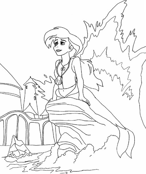 little mermaid 2 coloring pages gt gt disney coloring pages