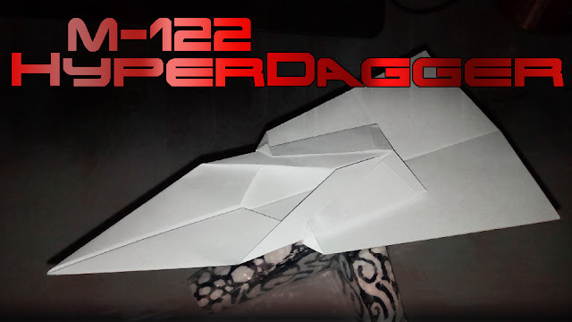 Avión de papel M-122 HyperDagger
