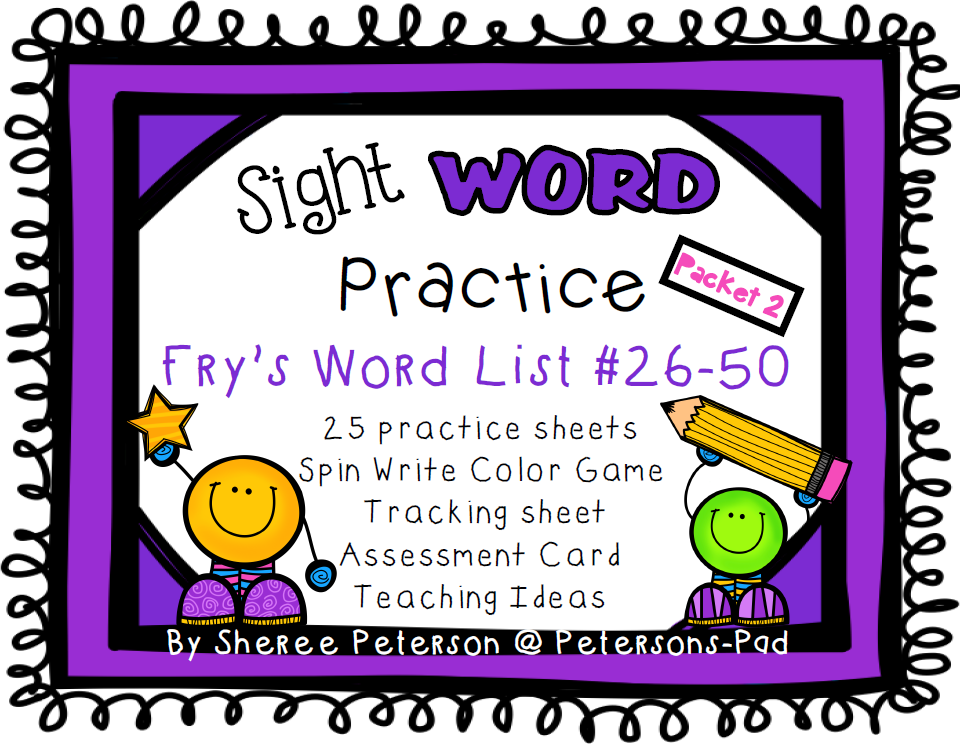 Peterson's Pad: Sight WORD Practice Packets