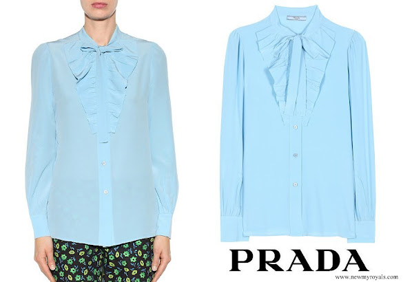Queen Rania wore PRADA Silk Blouse