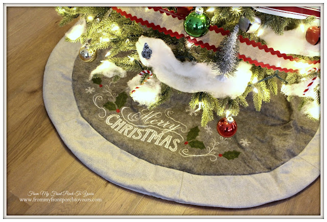 Farmhouse Christmas Tree-Vintage-Tree Skirt- From My Front Porch To Yours