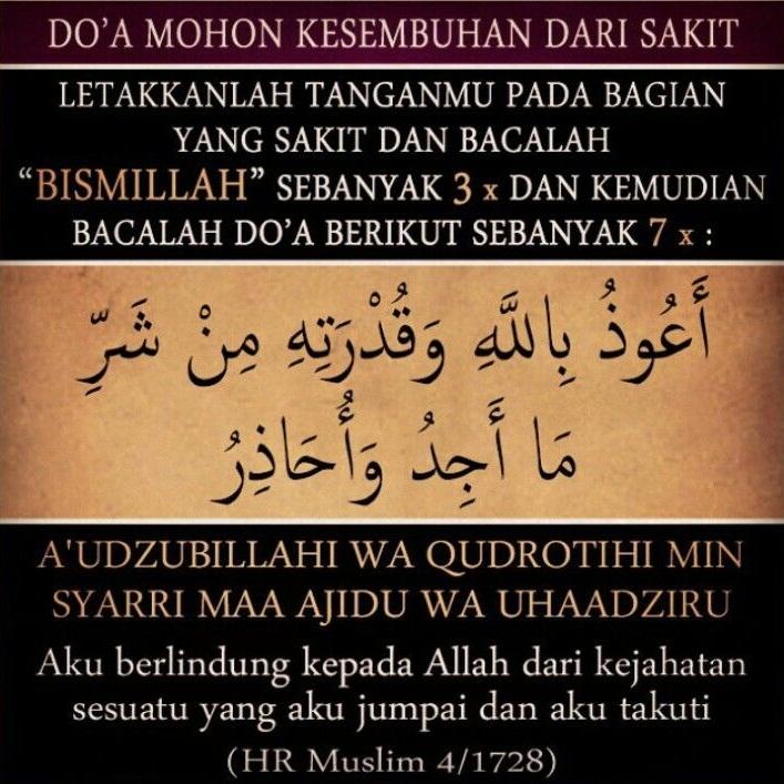 Doa Ketika Sakit Seperti Yang Telah Diamalkan Rasulullah